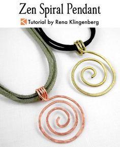 Wire Spiral Pendant Tutorial   Zen Spiral Pendant Tutorial   Wire Pendant DIY   Wire Pendant Tutorial