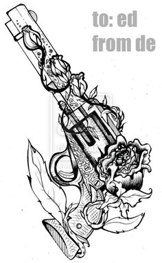 #revolver tattoo sketch http://tattoo-ideas.us