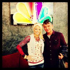 "Josh & Taylor....modeling for the ""Buckle"" on KKCO news !"