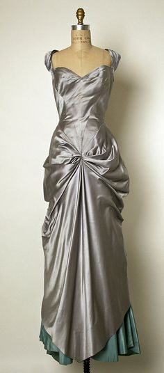 Dress (Ball Gown)  Charles James  (American, born Great Britain, 1906–1978)  Date: 1950–52 Culture: American Medium: silk http://www.metmuseum.org/Collections/search-the-collections/80017790?rpp=20&pg=6&ft=*&what=Gowns&pos=101