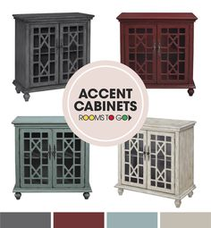 Rustic and stylish, the Swansboro accent cabinet is absolutely striking.