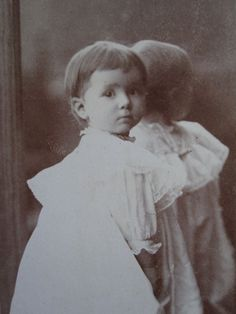 ANTIQUE ARTIST ANGEL GIRL REFLECTIONS OF TIME CHICAGO GIRL CABINET CARD PHOTO