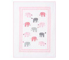 Harper Elephant Toddler Quilt