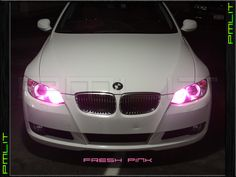 PMLIT G2.7 BMW 09-11 3 Series E90 E91 M3 LED 6W H8 Fresh Pink Angel Eyes Bulbs