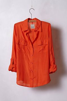 Emberglow Buttondown #anthropologie what a stunning color!