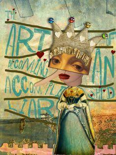 Art Journal Caravan Member Gallery Inspiration Using Actions-    nevermore