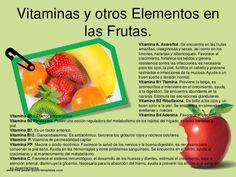Vitaminas y otros Elementos en              las Frutas.                                                                   ...