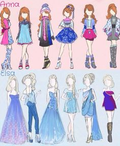 elsa outfit drawings - Google Search