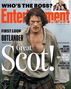 #repost from @entertainmentweekly . Great Scot! 😍 #SamHeughan is on our latest #Outlander issue, which has an exclusive first look at season 3—and when #Droughtlander will end. Click the link in our bio now for a sneak peek and be sure to pick up a copy on newsstands 9/30. 🙏 📷: Aimee Spinks/Starz #Starz  #JamieFraser #OutlanderStarz #OutlanderSeries #Regrann