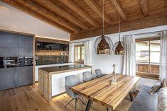 Domizil Kirchdorf in Tirol - Trixl Einrichtung Kirchen, Kitchen Island, Dining, Home Decor, Dinner, Homemade Home Decor, Meal, Interior Design, Home Interiors