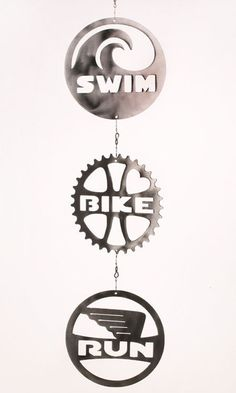 Triathlon Swim Bike Run Wind Chain Spinner by ShineOnSportyGirl, $65.00