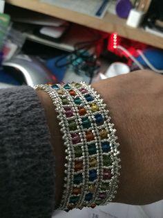 Herringbone with crystals