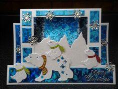 Christmas Card - Essential products for this project can be found on… Christmas Paper Crafts, Christmas Cards To Make, Xmas Cards, Christmas 2019, Stepper Cards, Tattered Lace Cards, Shaped Cards, Winter Cards, Pretty Cards