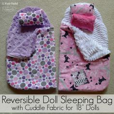 There's really nothing more fun than a good doll sleepover, and every sleepover needs a good sleeping bag. These are so luxuriously soft when made with lush cuddle from Shannon Fabrics, that your favorite girl might just be a big jealous of her doll. You can really top off the look by making up some cute coordinating pillows and pillow cases. For our my daughter who loves her Grace doll and everything to do with Paris, we choseParis Cuddle® Hot Pinkas our outside fabric andZiggy Soft…
