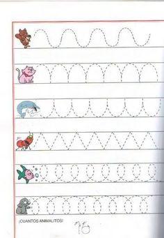 Risultati immagini per szlaczki do wydrukowania Preschool Writing, Kindergarten Math Worksheets, Tracing Worksheets, Preschool Learning Activities, Writing Activities, Preschool Printables, Kids Learning, Printable Activities For Kids, Kids Education