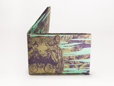 Wallet Set Tyvek Print Pattern Handmade CrispyWallet Hippo Seledin Gold Pantone Camouflage