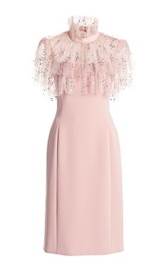 Ruffled Crepe-Tulle Dress by Jenny Packham Cute Dresses, Beautiful Dresses, Casual Dresses, Short Dresses, Classy Outfits, Stylish Outfits, Tulle Dress, Dress Up, Dress Outfits