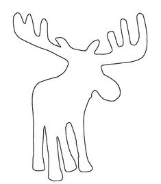 This is the moose from the HoopUp Swap. I'd like to make an applique version where the moose is made of woodgrain, I think! You can use this outline with simple running stitches. Applique Patterns, Applique Quilts, Quilt Patterns, Moose Quilt, Animal Outline, Primitive, Moose Clipart, Scroll Saw Patterns, Christmas Sewing