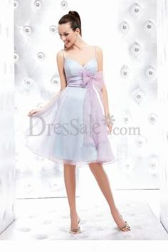 Fancy Organza  Dress with Lovely Bowtie