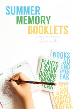 Summer Memory Booklets