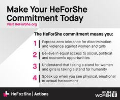 All over the world, men are taking a stand for gender equality. Join them and take the #HeforShe pledge at http://heforshe.org.