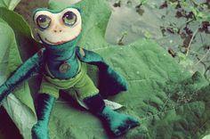Poupées OOAK grenouille fait à la main. Parfait par TeddysWorkshop