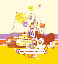 Retro poster to celebrate the 40th anniversary of Disney World.