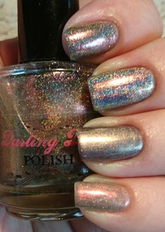 Bronze comparison from top to bottom darling diva space beetle, vapid cyberpunk, lilypad lacquer molten minx, tonic polish incandescent