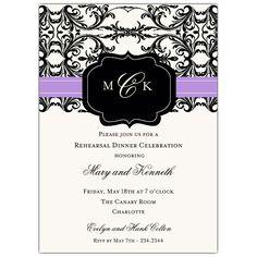 Black+and+Lilac+Elegant+Overlap+Invitations