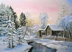 Зимний домик - Схемы вышивки - Miss_Ikss - Авторы - Портал «Вышивка крестом»