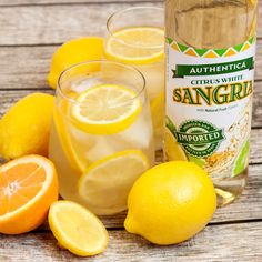 Boozy Lemonade Sangria Recipe. What you'll need:  1 bottle Authentica Citrus White Sangria., 4 cups lemonade, 1 cup lemon infused rum, sliced lemons, sliced oranges, Ice. To make this cocktail mix lemonade, Authentica Sangria and rum in a large pitcher. Add in the orange and lemon slices. Refrigerate for one hour and serve over ice! #boozylemonade #summercocktails #summerdrinks #sangria #sangrairecipes #cocktailrecipes #summerparties #cocktailideas #drinkrecipes Summer Cocktails, Summer Parties, Sangria Recipes, Cocktail Recipes, White Sangria, Cocktail Mix, Oranges And Lemons, Lemon Slice, Fine Wine