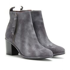 SHIRLEY SPARKLE SUEDE ANKLE BOOTS seen @ www.mytheresa.com