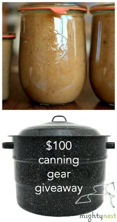 Prize includes Weck canning jars, jar lifter, canning pot, canning funnel and more!  10-31-15