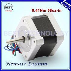 Free shipping! NEMA17 stepper motor 42x40mm 1.3A 4-lead 0.41N.m motor 1.8deg 58Oz-in for 3D printer  For CNC router machine