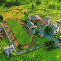A farm that doesn't even look like it was built in minecraft. By Shapescape : Minecraft Minecraft Stables, Minecraft Farm, Minecraft Cottage, Minecraft Mansion, Cute Minecraft Houses, Minecraft Plans, Minecraft Blueprints, Minecraft Designs, Minecraft Crafts