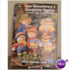 Jean Greenhowe's Knitted Scarecrow Family Pattern Book on eBid United Kingdom