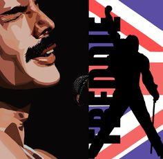 #illustration #ilustración #mercury #freddie #freddiemercury #queen Mercury Freddie, Clouds, Creative, Illustration, Movie Posters, Character, Design, Art, Photo Retouching