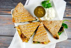 Spinach and Mushroom Quesadilla Recipe - 4 Points +