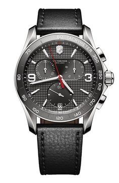 Victorinox+Swiss+Army®+'Chrono+Classic'+Leather+Strap+Watch,+41mm+available+at+#Nordstrom