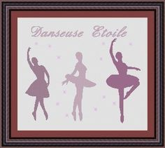 BALLET DANCER/ danseuses Counted cross by LudivinePointDeCroix