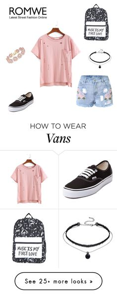 """""""romwe contest"""" by mystyle1234 on Polyvore featuring Vans and BaubleBar"""