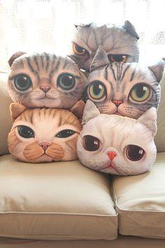 Home Cartoon funny cat comic cushions