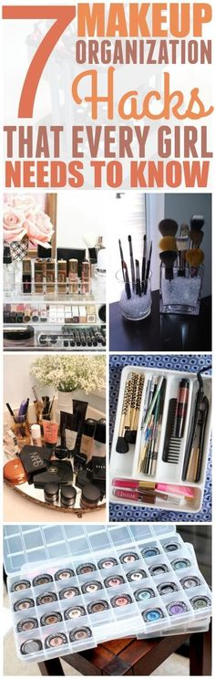 Cosmetics are pricey so it's important that you keep them organized and easy to find. I know for a fact that I will be using a couple of these ideas for my makeup. Pinning for later!