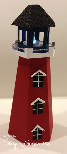 Nautical Theme - Lighthouse Table Centerpiece from Paper Crafters Sampler.
