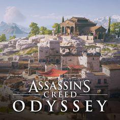 Level Art for Assassin's Creed Odyssey, Christian Marzy Assassins Creed Origins, Assassins Creed Odyssey, Minoan, Minecraft Ideas, Inspirational Artwork, Fantasy Series, Assassin's Creed, Ancient Greece, Dieselpunk