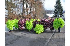 Karnevalkostüm Traube aus Luftballons, Kostüm Weintraube