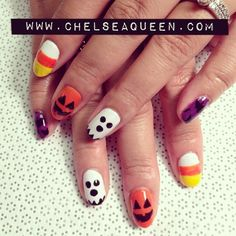 Boo! Halloween gel nails  (at Label Me...   Get Nailed