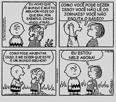(Linus e Charlie Brown, por Charles Schulz)