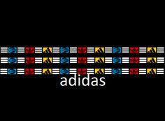 Adidas, new logo, made of Adidas, logos, in a swag, way.