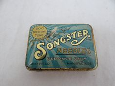 1930s Vintage Songster Gramophone Needles Tin by SecondWindShop